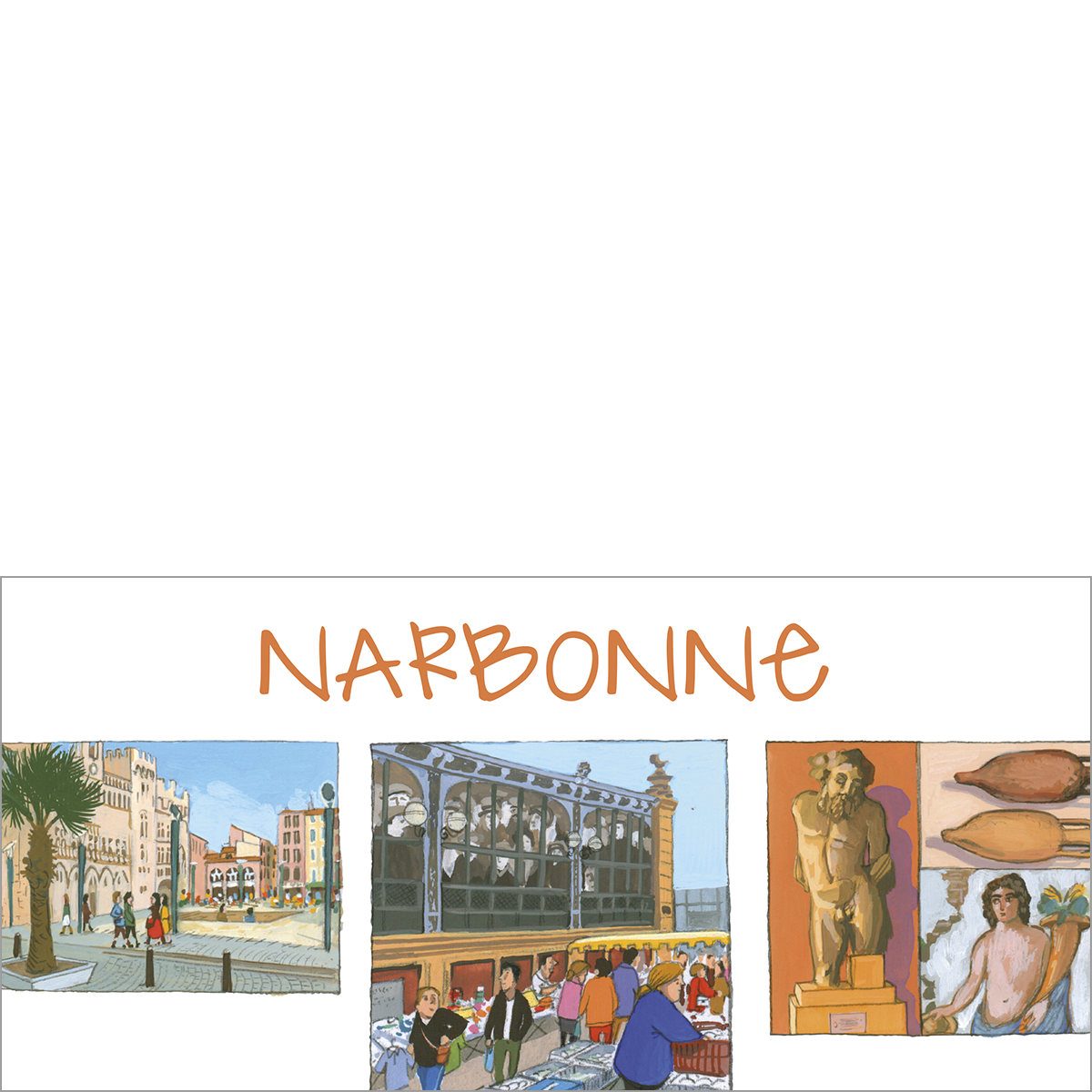 Carte postale Narbonne