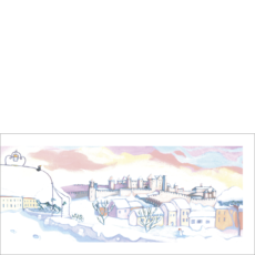 Carcasonne sous la neige