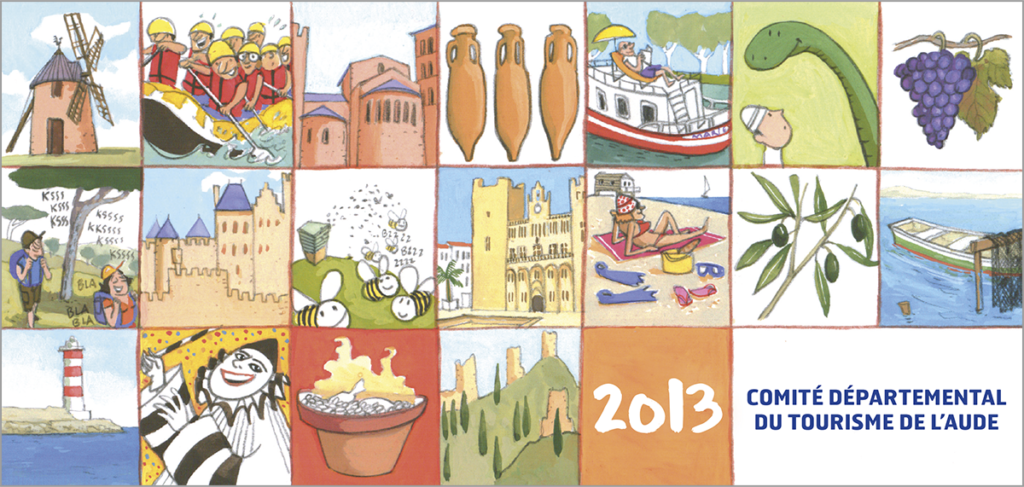 Carte de voeux du Comité départemental du tourisme de l'Aude